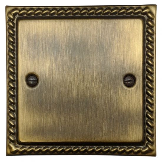 Monarch Roped Plate Antique Bronze